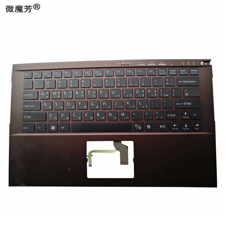 KR-لوحة مفاتيح بديلة لجهاز sony VPCZ2 ، Z23S9C ، VPCZ227GG ، مع C shell ، بني