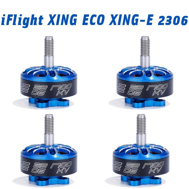 IFlight XING ECO XING-E 2306 1700KV 2450KV 2750KV 2-6S de Motor sin escobillas para RC Dron de carreras con visión en primera persona Kit de armazón de cuadricóptero
