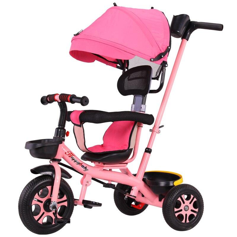 0-6Y asiento giratorio multifunción para bebé Trike bebé silla triciclo bicicleta niños pueden montar bicicleta niño empuje triciclo