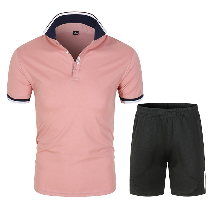 Vêtements de sport d'été pour hommes à manches courtes + short Ensemble 2 pièces de nouveaux vêtements décontractés pour hommes