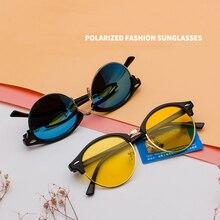2021 Round Man and Woman polarized sunglasses Retro Mens Sunglasses Outdoor Driving UV400 Mirror