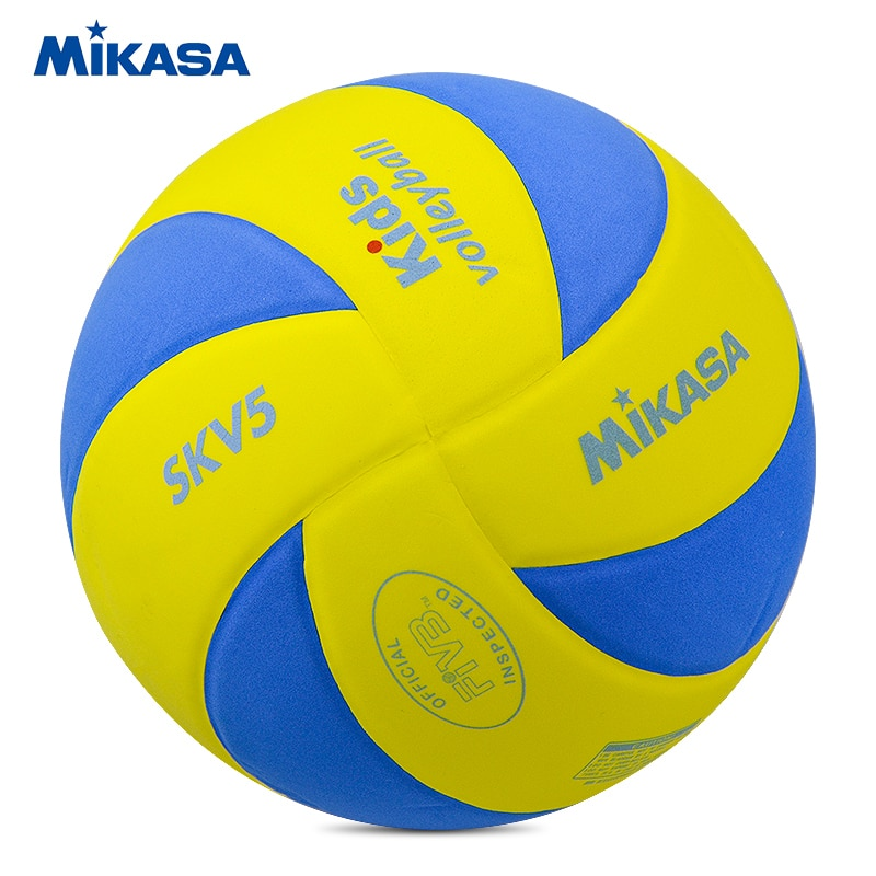Original Mikasa Kids Volleyball SKV5 EVA Sponge Material Child Soft Ball FIVB Official Inspected Mikasa Volleyball