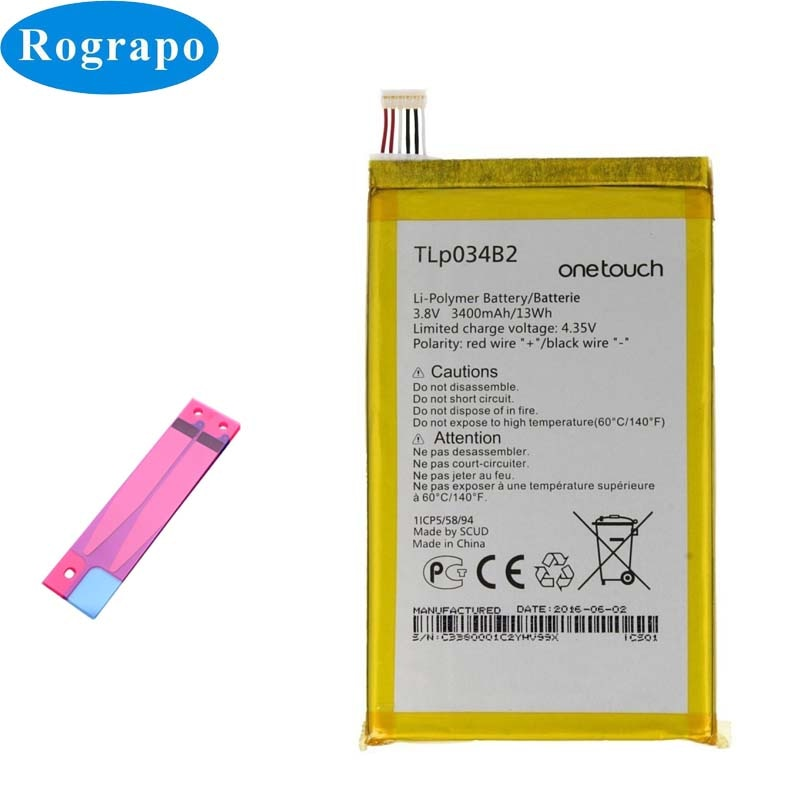 Новая батарея 3400mAh TLP034B2 B1 для Alcatel One Touch Pop S9 8020D Hero N3 OT-7050Y a995l TCL Y910/Y910T