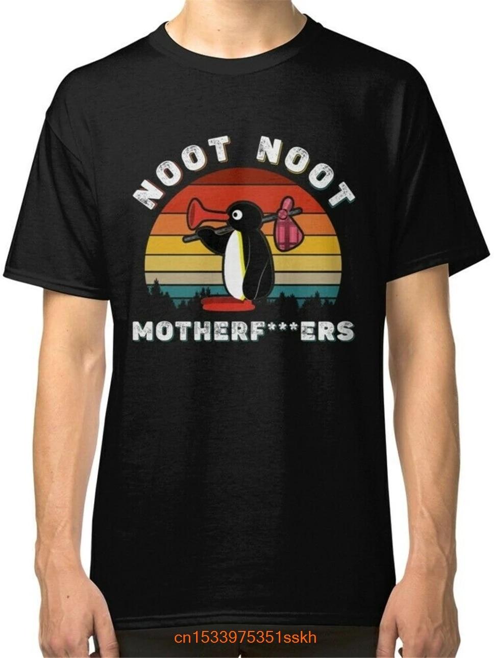 Camisa preta dos homens de noot noot meme