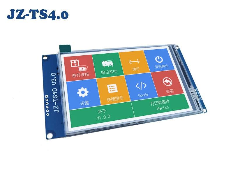 2k 4 polegada multilingue colorido completo JZ-TS4.0 tela sensível ao toque wifi desligamento automático ramps1.4 marlin sd para impressora 3d peças diy