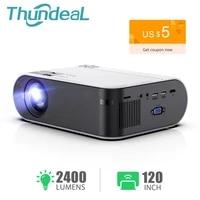 ThundeaL Mini projecteur TD60 Portable Home Cinema 2400 Lumens Smartphone multiecran video 3D projecteur Android WiFi LED Proyector