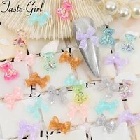 1 pack mixed style bow knot tie nail art decoration charms supplies for professionals kawaii nails accesorios manicure tools