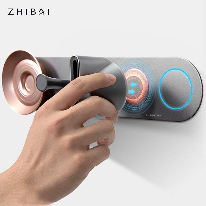 Фото - Настенный держатель для фена ZHIBAI, самоклеящаяся магнитный держатель-подставка стойка для хранения, органайзер для фена, для ванной комнаты электрическая самоклеящаяся подставка для ванной комнаты