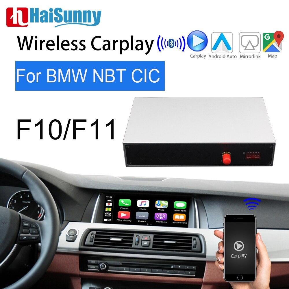 Para BMW F10 F11 CIC NBT, Apple Carplay inalámbrico, interfaz de sistema de actualización multimedia, compatible con Android, Auto Maps, pantalla, cámara de reserva