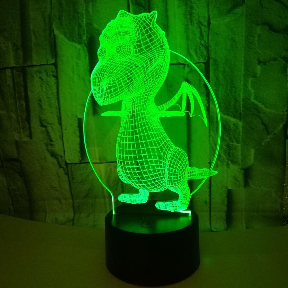Серии динозавров 16 Цвет 3D светодиодный ночной Светильник лампы дистанционного Управление настольные лампы игрушки подарок для малыша укра...