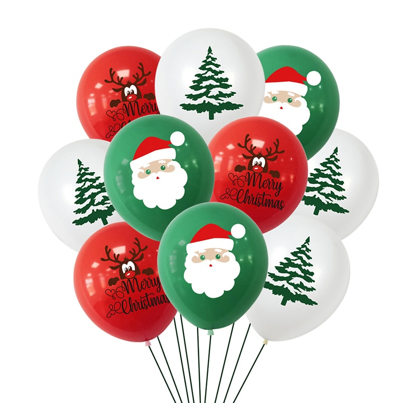 Set de Globos de látex para Navidad, set de 10 unidades de...