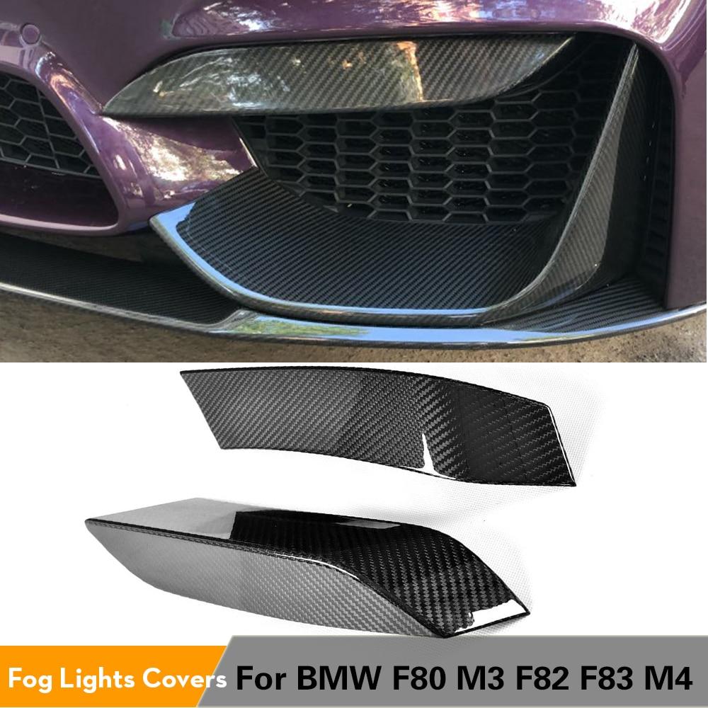 مصد زاوية من ألياف الكربون لمصابيح الضباب الأمامية ، لسيارات BMW F80 M3 F82 F83 M4 ، 4 أبواب و 2 أبواب 2014 - 2018