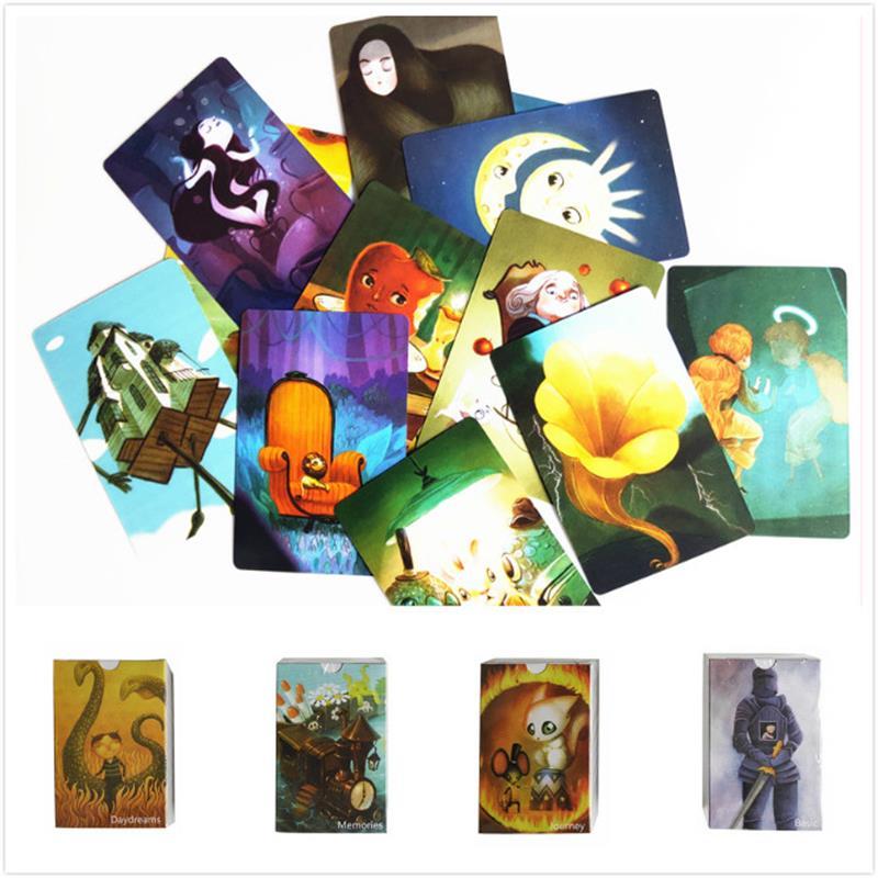 Juego de cartas dixit versión en inglés, juego de mesa, fiesta en casa, regalo divertido para niños, 84 tarjetas, mesa multijugador, barajas de cartas