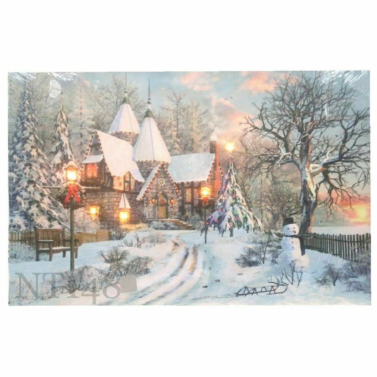Рождественское украшение, светильник, 1 шт., HD принты, домашний декор, постер для рисования, настенное искусство, холст, модульные картины для...