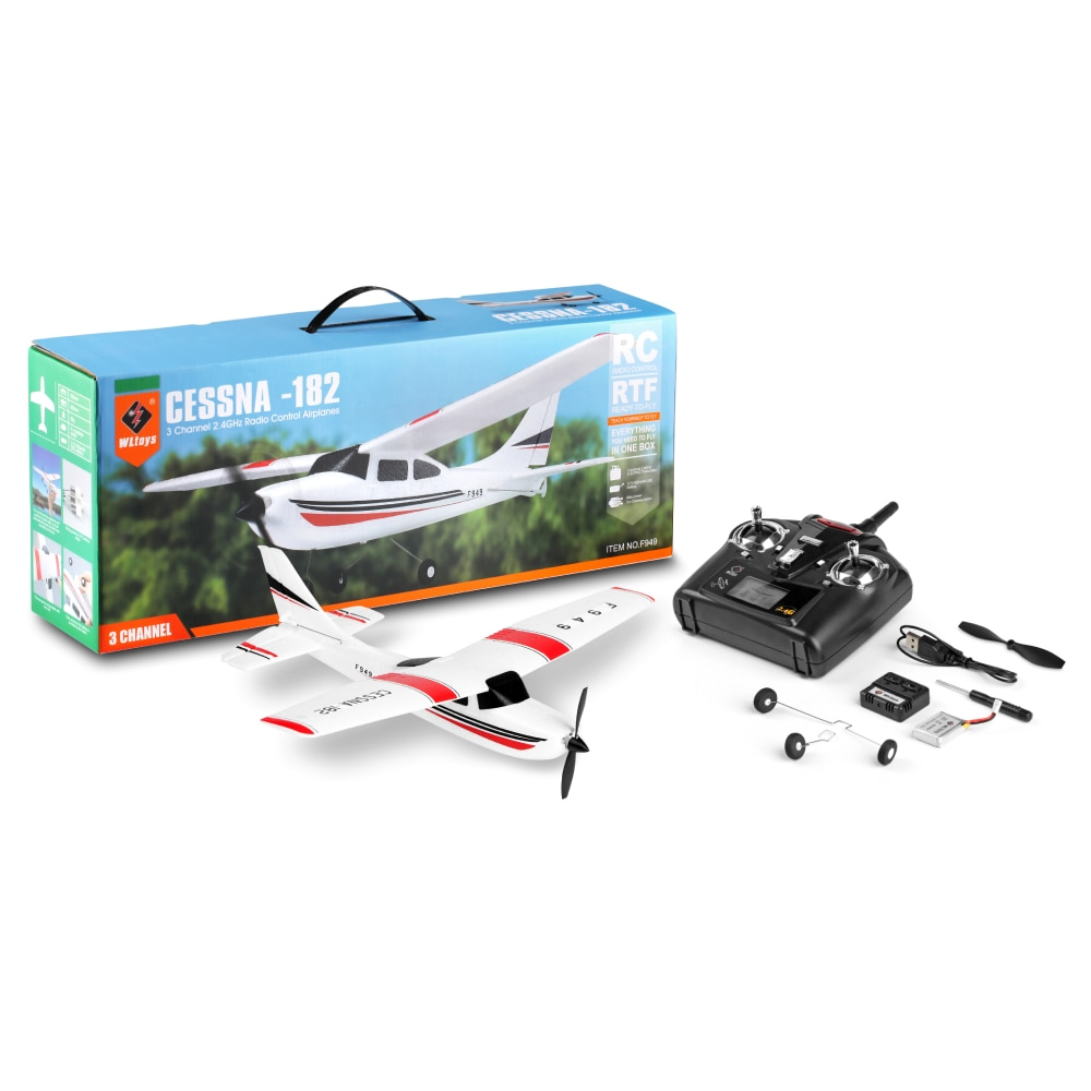 WLtoys XK F949S RC Airplane 3 Channel Gyro Cessna-182 Electric RC Plane Glider Throwing Wingspan EPP Foam Planes Fixed Wing RTF enlarge