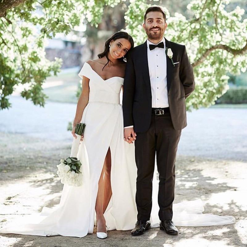 بدلة رجالي لحفلات الزفاف وعريس العريس بدلة رسمية مناسبة ضيقة مصممة خصيصًا لأزياء أفضل رجل ملابس من قطعتين (جاكيت + بنطلون)
