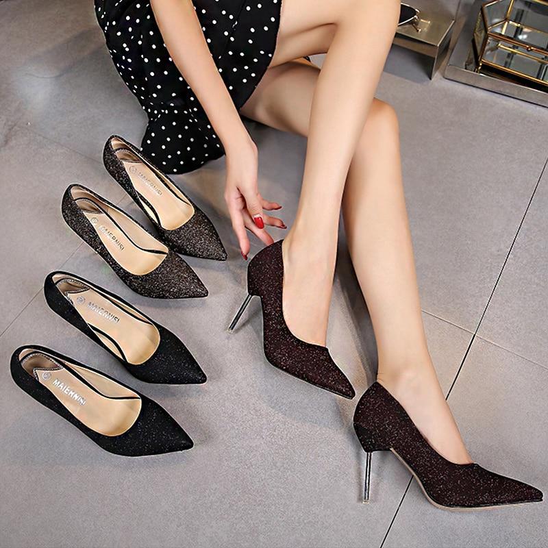 Женские туфли на шпильке-шпильке, с острым носком, весна-осень 2021 александра дорошина эволюция instagram smmarketing на шпильке