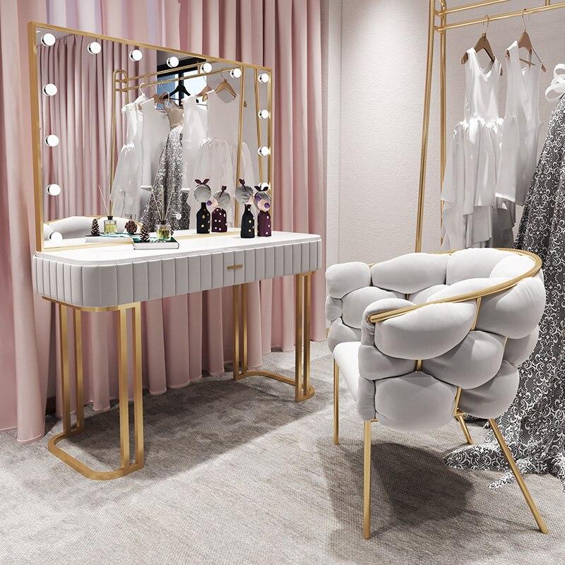 Туалетный столик для коммерческой студийной фотосъемки со светодиодсветильник кой, зеркало, модный макияж, Маникюрный Стол, шкафы, мебель д...