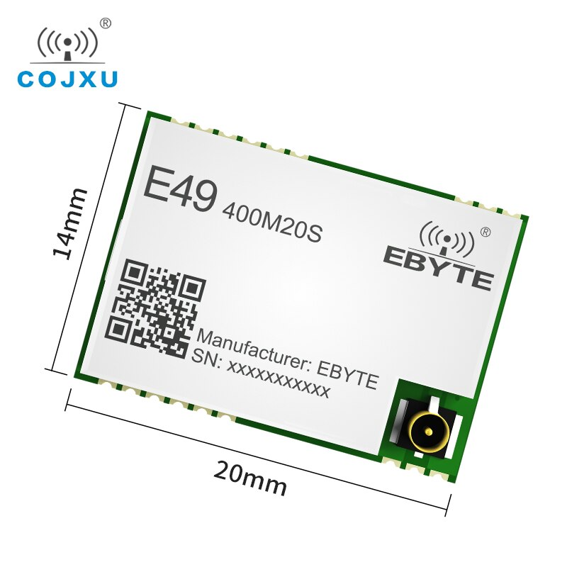 e49 400m20s 433mhz 20dbm cmt2300a chip wireless modules cost effective wireless data transmission spi module long range ebyte 433Mhz Wireless RF Module 470MHz 20dBm 1000m Long Range IoT Wireless RF Transmitter Receiver E49-400M20S Cojxu