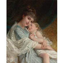 Superbe couture pour mère fille   Kit de broderie non imprimée avec couture de croix, pour personnes, décoration bricolage faite à la main, 14CT
