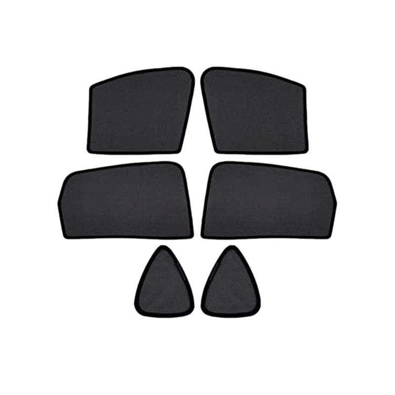 6Pcs Magnet Mesh Car Side Window Sun Shades,Uv Rays Protection Window Shade For Mazda Cx-5 2017-2019