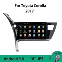 android 9 0 car radio multimedia video player for toyota corolla 2017 left hand drive split screen touchscreen mirror link obdii