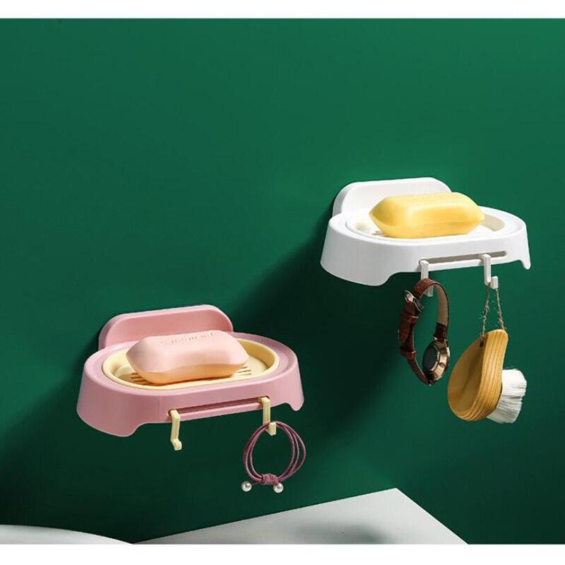 Caja jabonera Almacenamiento de baño artículos del hogar Baño ducha jabón plato de caja bandeja de placa de almacenamiento titular