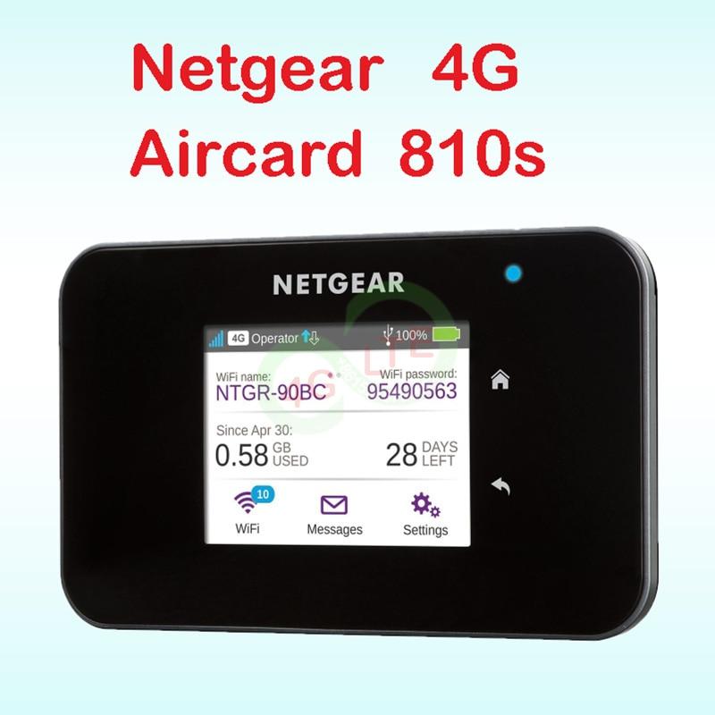 Desbloqueado netgear ac810 4g router Wi-Fi 4g dongle wifi inalámbrica lte Aircard 810 LTE wifi router netgear aircard 810 tarjeta sim