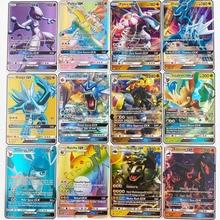 TOMY  100 Pcs GX MEGA Shining Cards Game Battle Carte Trading Cards Game Children Pokemon Toys