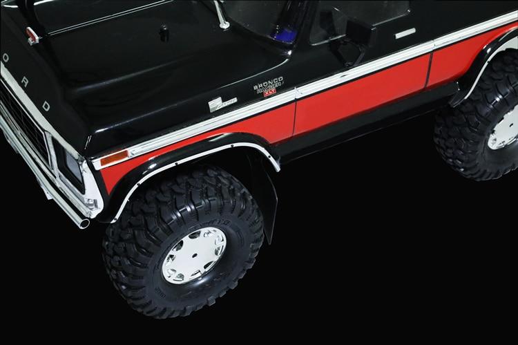 XQRC Metal wheel brow simulation trim strip for 1 / 10 RC tracked vehicle traxxas trx-4 TRX 4 Mustang enlarge