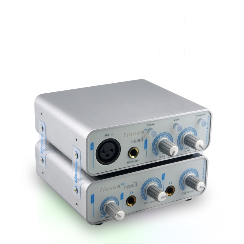 Tinsea mpa3 Professional audio interface microphone amplifier sound card reverberation karaoke with 48V phantom power supply enlarge