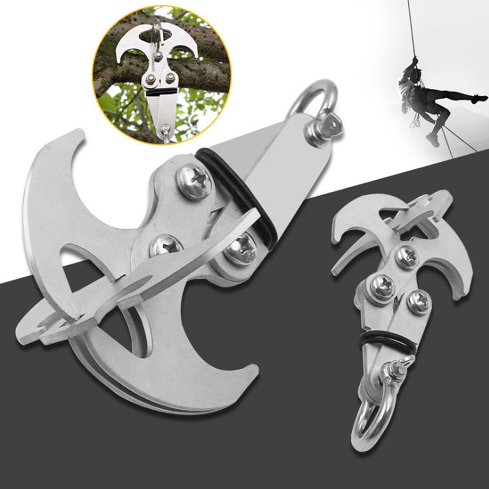 Survival Folding Grappling Hook Multifunctional Outdoor Climbing Claw Carabiner Travel Rescue Tool Climbing Tool