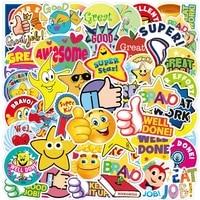 103050pcs mother teacher praise reward stickers laptop guitar luggage phone cool waterproof graffiti sticker decal kid toys
