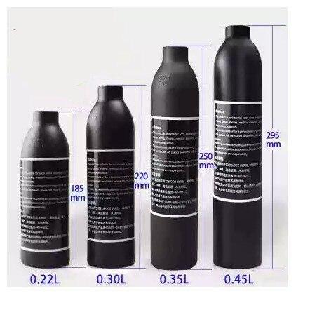 PCP الألوان Airs Airs HPA اسطوانة الهواء زجاجة 0.2L 0.3L 0.35L 0.45L خزان 300bar 4500psi M18 * 1.5 الموضوع 6061 سبائك الألومنيوم