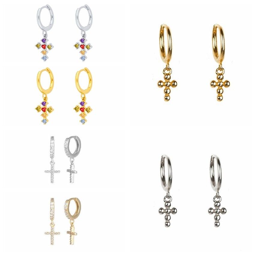 aide-925-пробы-серебряные-Висячие-серьги-крест-Радуга-кубического-циркония-со-стразами-различные-крест-кулон-жемчужные-серьги-с-подвесками