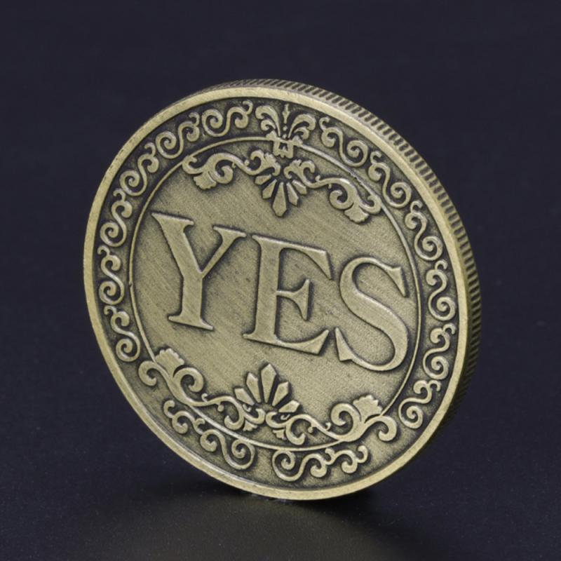 Aleación nueva moneda Floral sí o NO conmemorativa sí NO carta moneda clásicos juguetes para trucos de magia monedas sin moneda