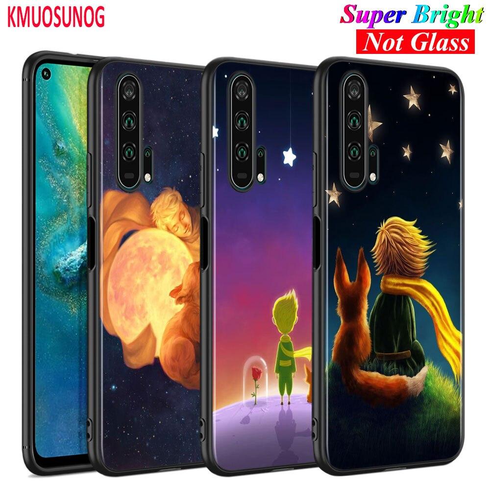 Funda de silicona negra para el Pequeño Príncipe y el zorro para Huawei Honor 10i 9X8X20 10 9 funda de teléfono Lite 8 8A 7A 7C Pro Lite