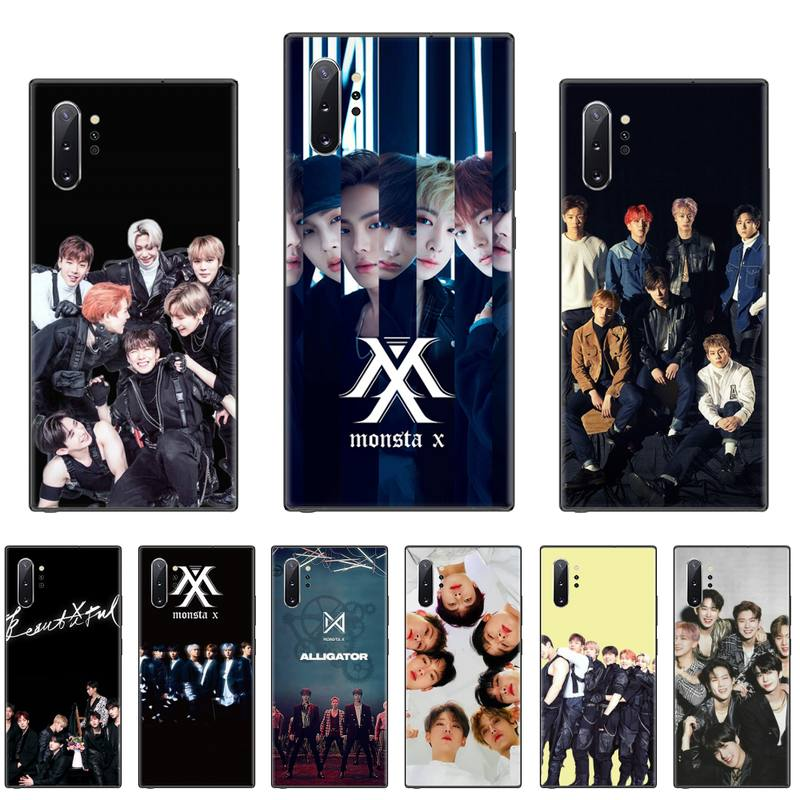 Carcasa kpop Monsta X coreana para teléfono Samsung S8, S9, S10 Plus, Lite S10E, Note 3, 4, 5, 6, 7, 8, 9 y 10 Pro