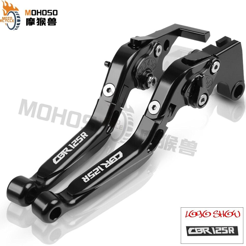 CBR125R, accesorios para motocicleta, palancas de embrague de freno ajustables plegables CNC para Honda CBR125R CB125R CBR CB 125R 125 R