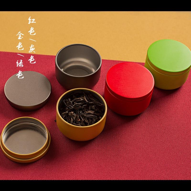 Mini portátil de 10g pequeño sello de burbujas de té puede redonda de hojalata de vela puede frascos de cocina dulces jarra de té café azúcar
