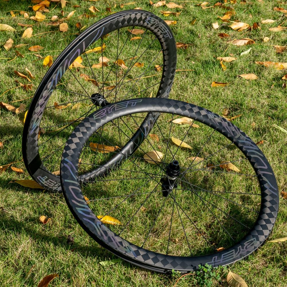 2021 RYET الكربون الحصى عجلات الدراجة مكبح قرصي الطريق الدراجة Rimsets مستقيم سحب rache Hub 36T عجلات لايحتاج عجلات سباق جاهزة