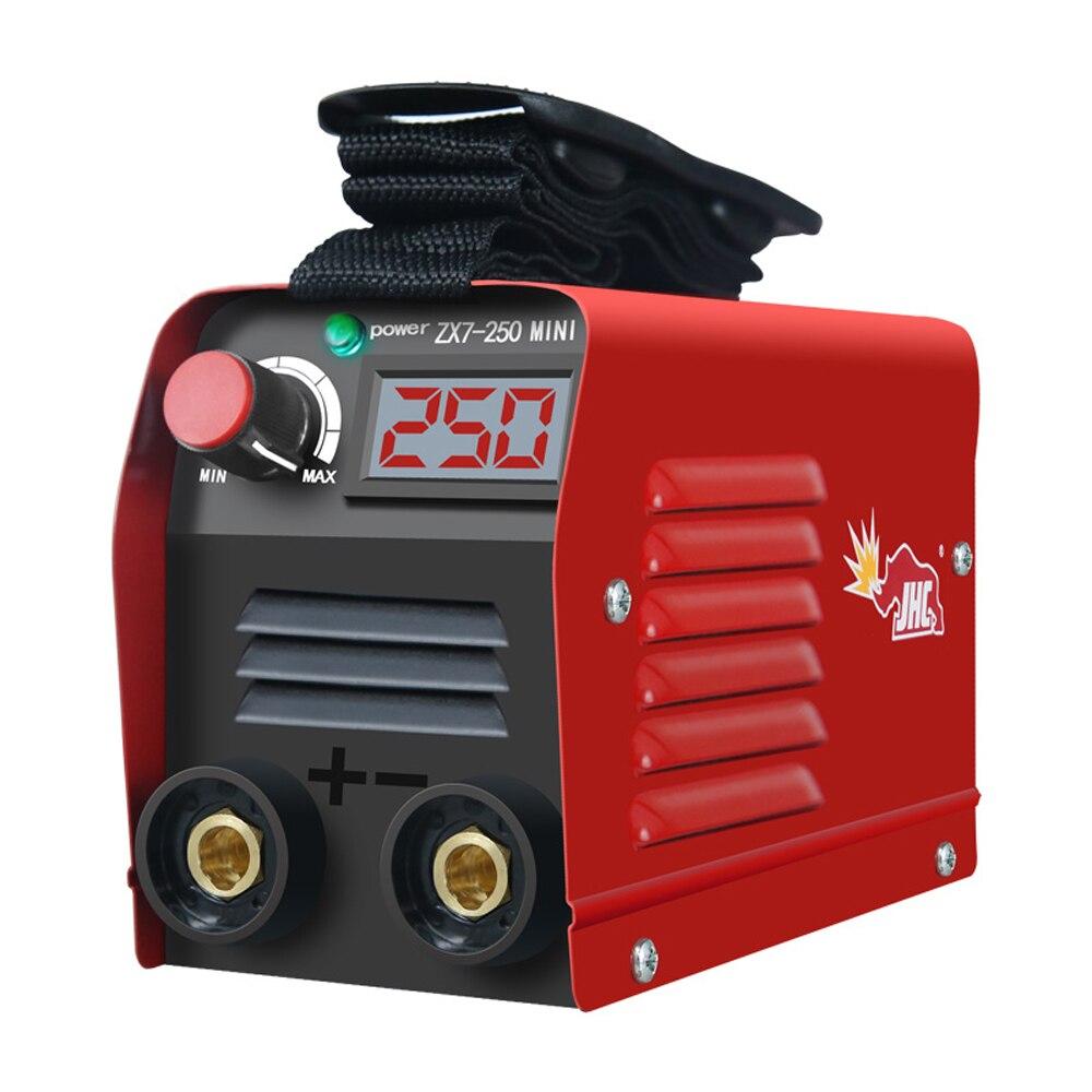 20-250A الحالي قابل للتعديل المحمولة المنزلية مصغرة الكهربائية آلة لحام IGBT الرقمية لحام معدات LED عرض ZX7-250