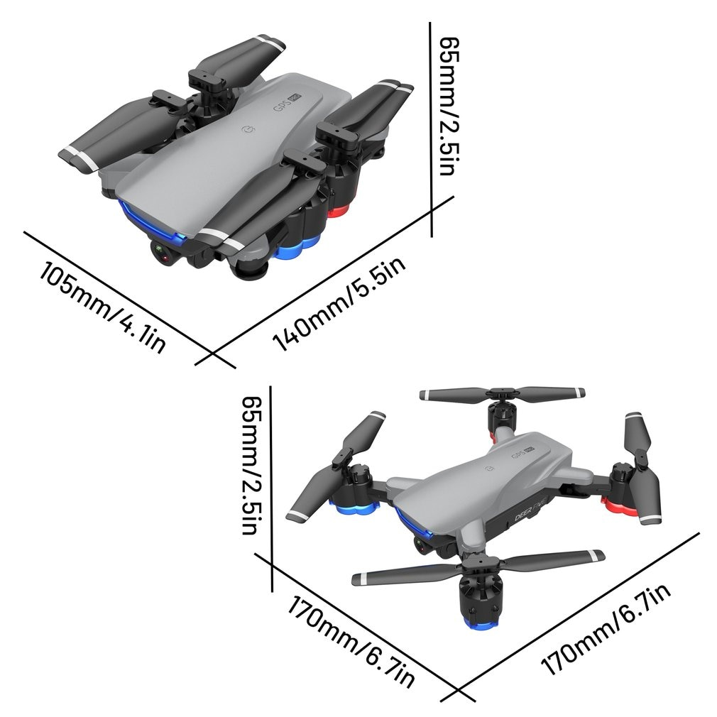 LU5 drone 4K camera dual camera GPS height hold headless mode WiFi FPV brushless motor professional Quadcopter Mode Drone enlarge
