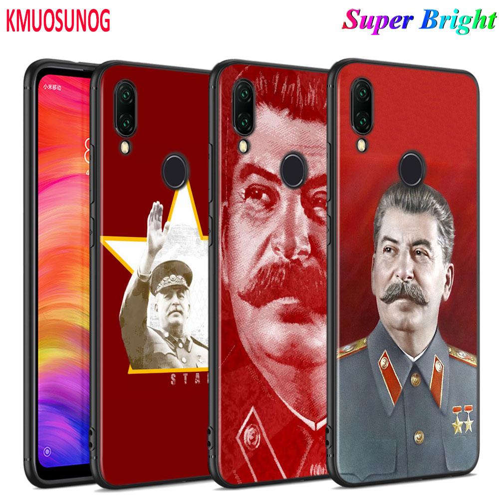 Cubierta de silicona negra de la Unión Soviética DE LOS Silicón para Xiaomi Redmi Note 8 7 6 5 4X4 K20 Pro 7A 6A 6 S2 5A Plus teléfono caso