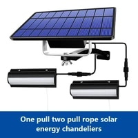 led solar pendant lights indoor outdoor auto on off solar lamp for room porch balcony with pull switch and 3m line chandelier