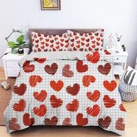 32pcs cute love pattern bedding set 3d printed cartoon duvet cover set with pillowcase bedroom decor twin queen king size