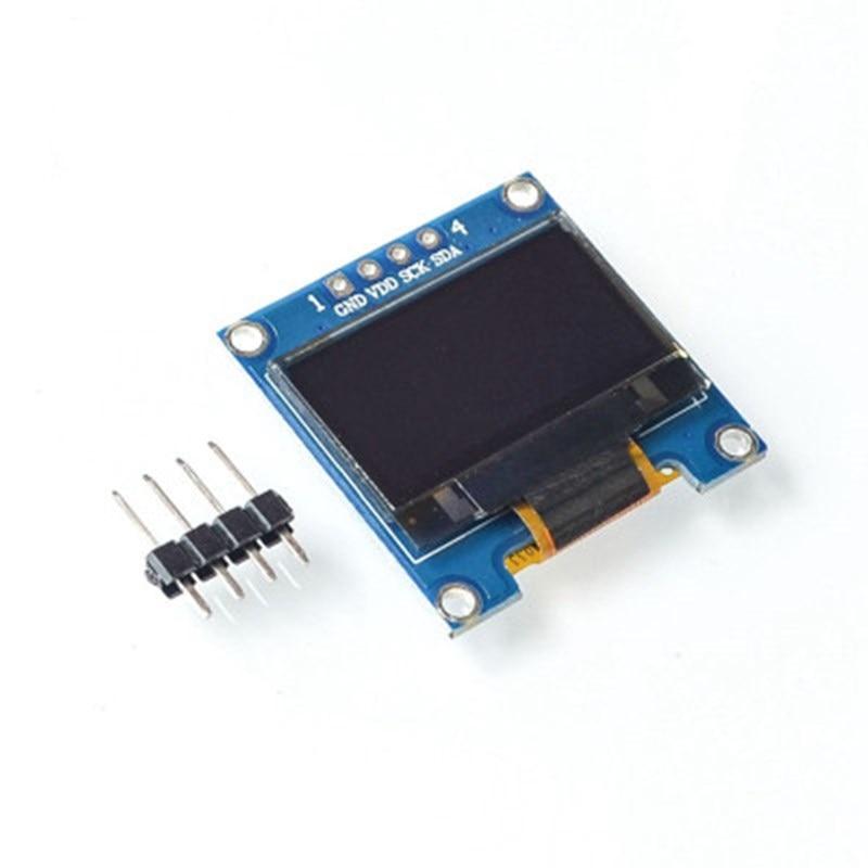 0,96 pulgadas OLED IIC serie Blanco Módulo de pantalla 128X64 I2C SSD1306 12864 Placa de pantalla LCD GND VCC SCL SDA 0,96