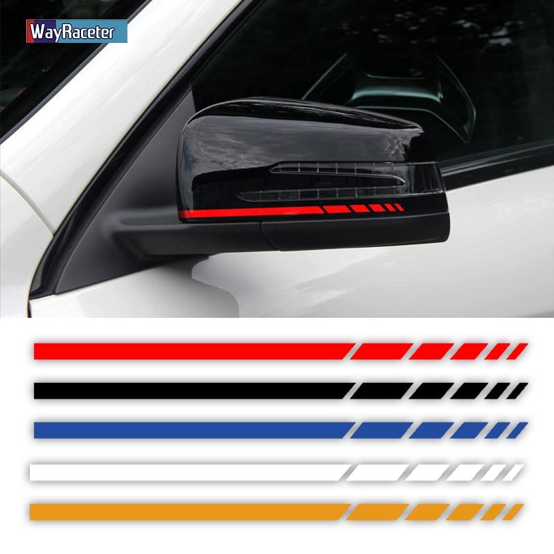 "2X Edition 1 Styling 8.8"" Side Stripes Sticker Rearview Mirror Vinyl Decal For Mercedes Benz W204 W205 W176 A45 W213 C63  AMG"