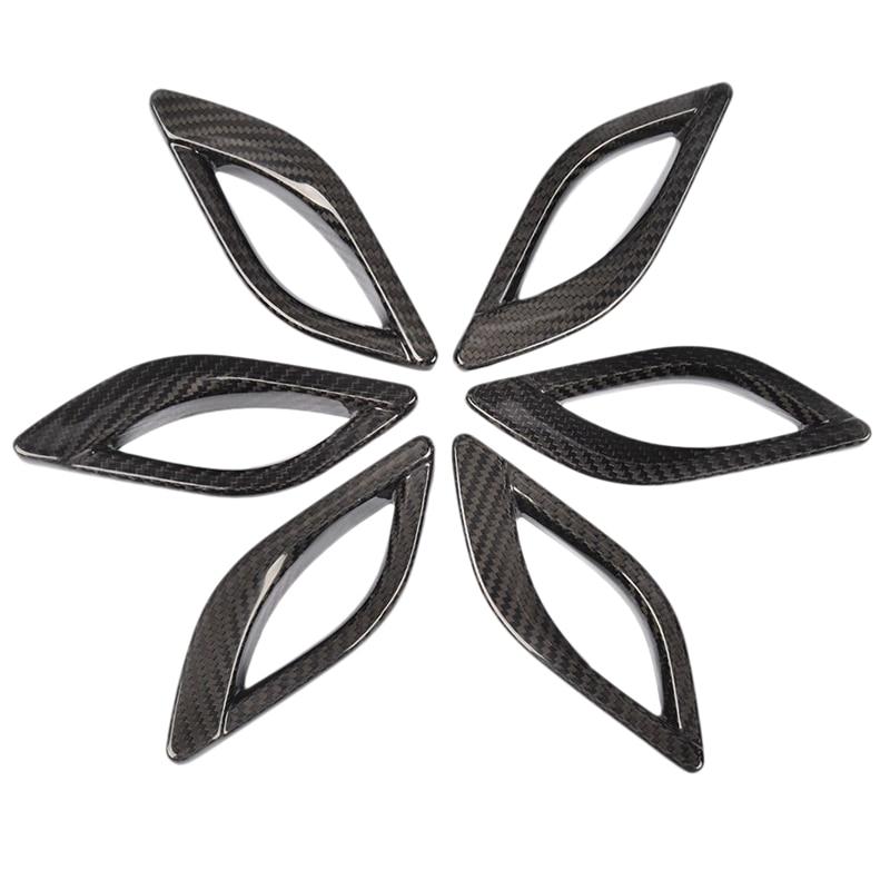 Apto para Maserati Levante 2016, 2017, 2018, 2019 de fibra de carbono negro Lado de ventilación de aire cubierta de guardabarros de accesorios de coche (6 unids/pack)
