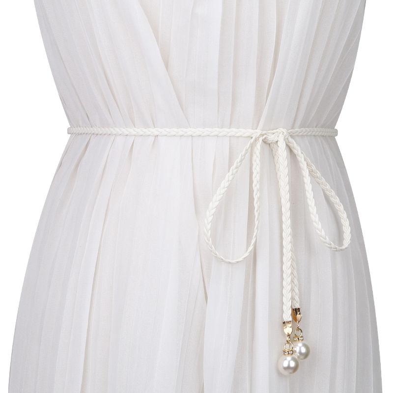 Fashion Elegant Ladies Weave Cummerbund Waist Chain More Style Women Strap Dress Waist Belt Decorati